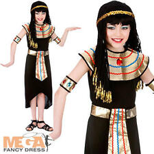 Cleopatra Queen Girls Fancy Dress Kids Egyptian Party Childs Costume Outfit New