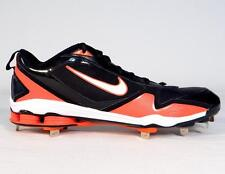 Nike Shox Zoom Fuse 2 Metal Baseball Cleats Black & Orange Softball Mens NEW