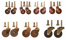 Hardwood Casters, 3 sizes, With or Without Ball Bearings, Sold in Pairs