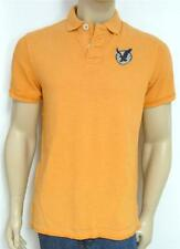 American Eagle Outfitters AEO US-9 Double Logo Mens Orange Polo Shirt New NWT