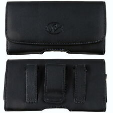 Leather Horizontal Belt Clip Case Pouch fr Samsung Cell Phones ALL CARRIERS NEW