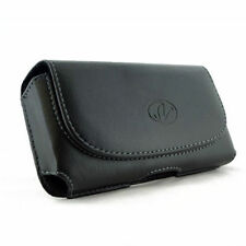Leather Sideways Horizontal Belt Clip Case Pouch Cover for Nokia Cell Phones