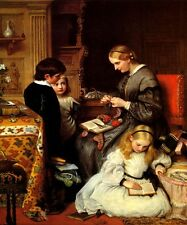A LIFE WELL SPENT DOMESTIC WIFE MOTHER CHILDREN 1862 BY CHARLES WEST COPE REPRO