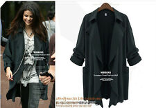 2014 Autumn Women Lady Fashion Long Sleeve Slim Women Dust Coat Jacket Outwear