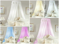 Bed CORONET Corona BED CANOPY SET inc FRAME & VOILE Drapes 6 Colours EASY to FIX