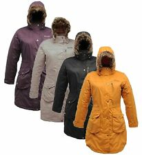 REGATTA LADIES LANDBREAK INSULATED WATERPROOF BREATHABLE LONG PARKA JACKET