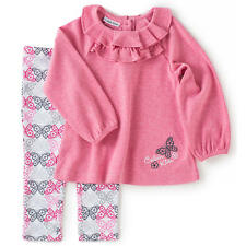 Calvin Klein Girls 2 Piece Pink Long Sleeve Tunic & Butterfly Print Legging Set