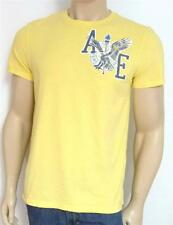 American Eagle Outfitters AEO Torch 3 Tee Mens Yellow Double Logo T-Shirt NWT
