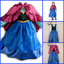 Frozen Anna Elsa Princess Christmas School Party Dress Costume Girls Dresses 3-8