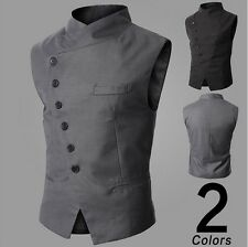 New Fashion Stylish Mens Slim Fit Casual Waistcoat Top Vest for Suit or Tuxedo