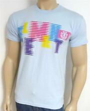 Element Skateboards Neon Graphic Tee Mens Pale Blue T-Shirt New NWT