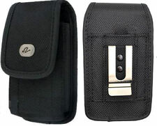 Vertical Heavy Duty Rugged Canvas Case Clip Pouch for Google Cell Phones
