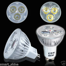 10 x GU10 / MR16 LED LAMPS 3W HIGH POWER SPOTLIGHT WARM / DAY WHITE LIGHT BULBS