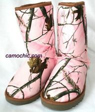 REALTREE GIRL AP PINK CAMOUFLAGE LADIES MUKLUK BOOTS - LICENSED CAMO CARSON