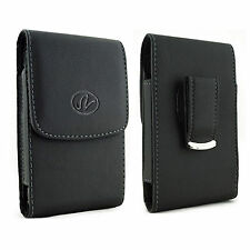 VERTICAL LEATHER CASE Fits WITH EXTENDED BATTERY fr BLU Cell Phones