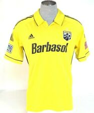 Adidas ClimaCool Formotion Columbus Crew Yellow Short Sleeve Soccer Jersey Mens