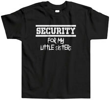 Security For My Little Sisters Kids Toddler T-Shirt Tee Brother Sis Family Cute