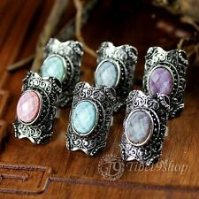 Buy 2 Get 1 Free,  Gothic Punk Coloured Glaze Tibetan Silver Open Ring R024