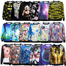 Womens Space Galaxy T shirt sweater Sweatshirt hoodie Pullover Tops Tracksuit