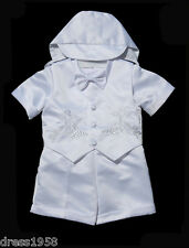 Boys  Infant Toddler Christening Baptism Outfit S Sz: Small to 4T