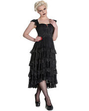 Spin Doctor Ophelia Dress Black Lace Gothic Steampunk VTG Victorian Witch