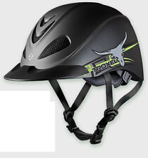 TROXEL REBEL STEER YELLOW DURATEC ENGLISH AND WESTERN RIDING HELMET LOW PROFILE