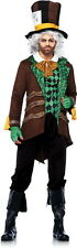 Alice in Wonderland Classic Mad as a Hatter Halloween Costume Outfit Adult Men