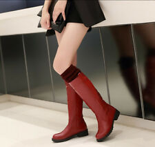 Roma Womens Ladies  Knitted Block Low Heel Riding Knee High Boot Shoes 2014 Hot