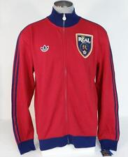 Adidas MLS Real Salt Lake Red Zip Front Fleece Lined Track Jacket Mens NWT