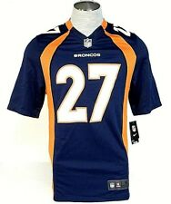 Nike NFL Denver Broncos Moreno 27 Blue Short Sleeve Football Jersey Mens NWT