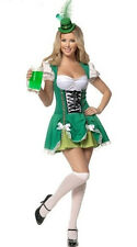 Deluxe Green Sexy Oktoberfest Beer Maid Bar Wench Ladies Fancy Dress Costume