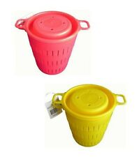 Seahorse Berley Bucket With Screw Top Lid - Red or Yellow