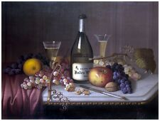 9098.Still life of fruit, champagne and bottle.POSTER.decor Home Office art