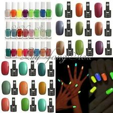 18/24 Colors Glow In Dark Neon Fluorescent Nail Art Polish Lacquer Varnish Gel