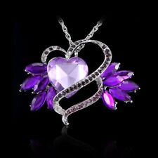 New Fashion Design Colours Rhinestone Flower Crystal Necklace Pendant Statement