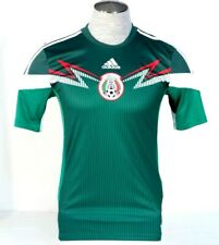 Adidas ClimaCool Mexico 2014 World Cup Green Short Sleeve Football Jersey Mens