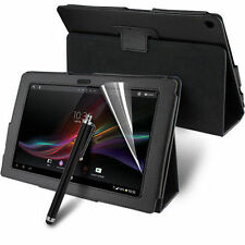 Leather Stand Case Cover for Sony Xperia Tablet Z with Screen Protector & Stylus