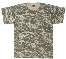 ACU Digital Camoflauge T-Shirt Hunting Camo US Army Combat Uniform Style XS-4X