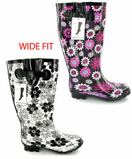 Wide Calf Festival Wellingtons Wellies for Women Size 5-10