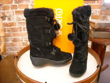 Sporto Meagan Black Suede Waterproof Lace Up Boots New