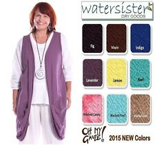 OH MY GAUZE Cotton  OMAHA  Open Layering Vest Top  OS (M/L/XL/1X)  2015 COLORS