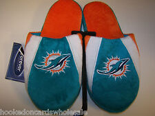2014 Miami Dolphins NFL Swoop Logo Slide on Mens Slippers