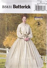 Butterick Sewing Pattern Misses' Victorian Dress Period Costume 8- 24 B5831
