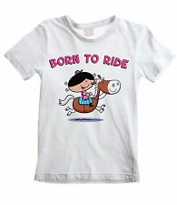 BORN TO RIDE KIDS UNISEX T-SHIRT - Pony Horse Riding Jumping Childrens All Sizes