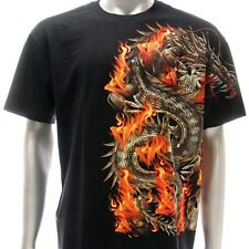 sc88 Sz M L Survivor Chang T-shirt Tattoo Skull Glow in Dark STUD Dragon Design