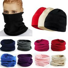 Unisex Fleece Thermal Snood Hat Neck Warmer Ski wear Scarf Beanie Balaclava
