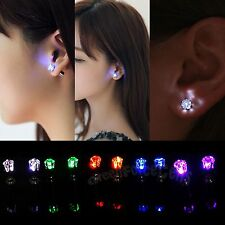 LED Earrings Light Light Up Bling Ear Studs Dance Party Accessories Men Women
