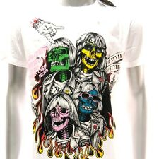 m244 Minute Mirth T-shirt Tattoo Skull Boy Band Rock Singer Ghost Funny Present