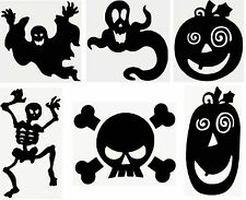 "HALLOWEEN DECOR.  Vinyl Decal  Black  U Choose Size (4"",6"",8""10"") & Design (1-6)"