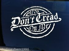 Don't Tread On Me 1776 vinyl sticker window decal Tea Party Gadsden Flag Liberty